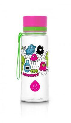 EQUA BPA free bottle Pink Monsters
