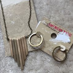NWT American Rag Bundle Necklace and Earrings bundled never worn necklace and earrings American Rag Jewelry Necklaces