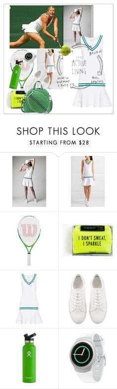 """""""Active living"""" by changethisonce ❤ liked on Polyvore featuring L'Etoile Sport, Wilson, Pinch Provisions, Hydro Flask, Samsung and Cinda B"""