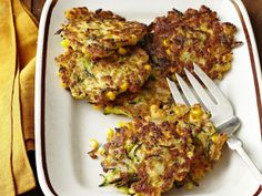 Zucchini-Corn Fritters from FoodNetwork.com