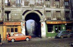 La rue des Envierges et la villa Faucheur en 1959. Une photo de © Henri Guérard (Paris 20ème)