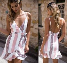 Backless mini dress - 50 Awesome Backless Outfits Ideas You Must Know – Backless mini dress Modest Dresses, Simple Dresses, Cute Dresses, Casual Dresses, Short Dresses, Chic Outfits, Summer Outfits, Fashion Outfits, Summer Dresses
