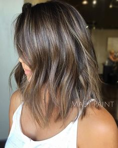 Hair color with highlights, ash brunette, balayage brunette, hair color b. Bayalage, Balayage Brunette, Hair Color Balayage, Brunette Hair, Hair Highlights, Ash Brown Hair With Highlights, Ash Blonde Balayage Short, Carmel Highlights, Haircolor