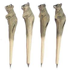 MoralBelief Creative Hand Carved Wooden Smart Mouse Cartoon Animal Art Neutr...