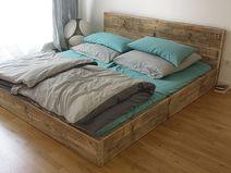 Designer Bett aus Bauholz! Shabby Chic 140 x 200