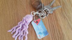 Jellyfish keyring by LisasWoollyTreasures on Etsy