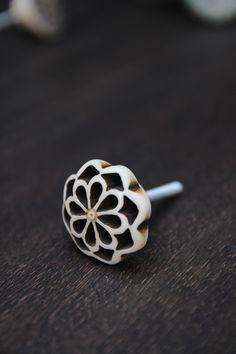 Carved Petal Knob - Bone - View All - NEW