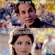 Divergent insurgent allegiant pitch perfect funny memes