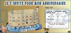 "6 Cartes Invitation Anniversaire ""Fort Boyard"" Papier 250 GR | eBay"