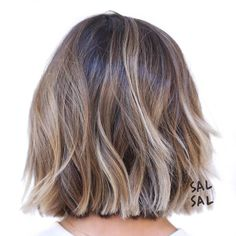 Choppy+Wavy+Brown+Blonde+Bob