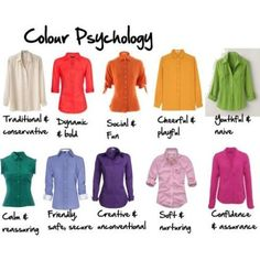 color psychology...I'm feeling confident today!