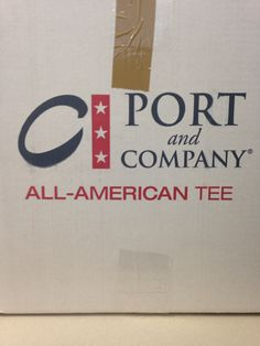I didn't understand the typography on this box. The 'All American' is in bold but the 'Tee' isn't. And same goes for the 'Port Company.' I personally just thought it looked strange.