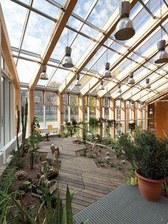 Tartu Nature House / KARISMA Architects hexagonal floor, inside garden