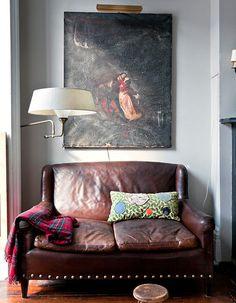 worn leather corner