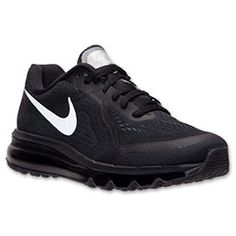 Women's Nike Air Max 2014 Running Shoes | FinishLine.com | Black/Reflective Silver