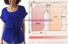 Amazing Sewing Patterns Clone Your Clothes Ideas. Enchanting Sewing Patterns Clone Your Clothes Ideas. Dress Sewing Patterns, Blouse Patterns, Sewing Patterns Free, Free Sewing, Clothing Patterns, Techniques Couture, Sewing Techniques, Fashion Sewing, Diy Fashion