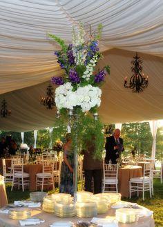 Weddings - Wedding Reception table arrangement. Dawson Photography www.mdawsonphoto.com