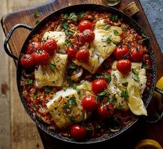 Cook Joe Wicks' post-workout risotto with cod for a perfect refuelling dinner. It's low in calories and fat, and serves one of your five-a-day.