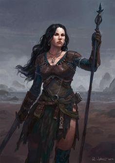 Female Wizard, Veli Nyström on ArtStation at https://www.artstation.com/artwork/xwlYX