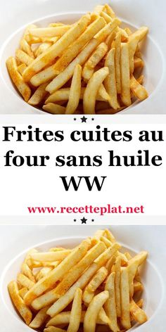Frites cuites au four sans huile WW - Best Pins France Ww Recipes, Detox Recipes, Chicken Recipes, Cooking Recipes, Healthy Recipes, How To Make Fries, Weigth Watchers, Homemade Dinner Rolls, Homemade Breads