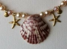 ON SALE Mermaid Kyra Seashell Necklace by FrenchMermaid on Etsy, $48.00