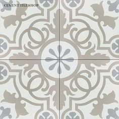 Cement Tile Shop - Encaustic Cement Tile Harper I I know this isn't the pattern you prefer, but not much in beige! Mostly gray