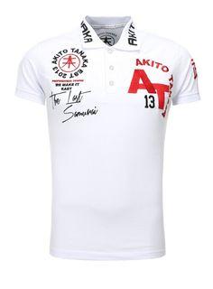 Akito Tanaka Poloshirt »Design«, mit Stickereien und Applikationen