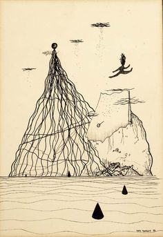 Yves Tanguy - 1926 - Paysage surréaliste Yves Tanguy, Peggy Guggenheim, Painting & Drawing, Drawing Board, Drawing Sketches, Drawings, Max Ernst, Rene Magritte, Black And White Lines