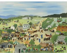 Country Fair Artwork By Anna Mary Robertson Grandma Moses Oil Painting & Art Prints On Canvas For Sale Grandma Moses, Art And Craft Videos, Country Fair, Nature Artists, Naive Art, American Artists, Art Google, Canvas Art Prints, Great Artists
