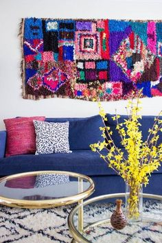 When a rug is just too pretty to place underfoot, try hanging it on the wall, instead.