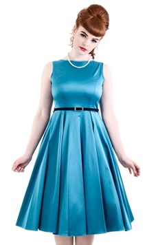 NEW Turquoise Hepburn Dress - £45. Made in London.