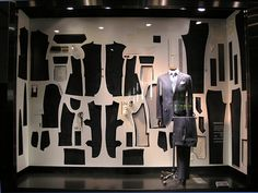 Great window display. #retail #merchandising #window_display #menswear #fashion