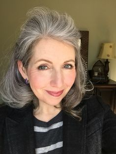 Gray hair don't care. Salt and pepper gray hair. Grey hair. Silver hair. White hair. don't care. No dye. Dye free. Natural highlights.