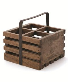 Napa Home & Garden Rustic Four-Bottle Wine Caddy   zulily