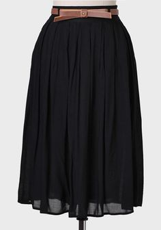 Southern Blossom Skirt In Black at #Ruche @Mimi ♥♥  Not sure about the length but I love flowly skirts with work outifts. :)