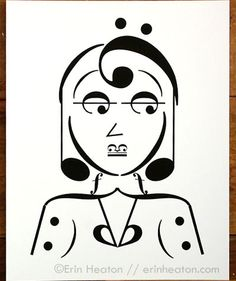 CHIC WOMAN music note art print, available in 5x7, 8x10, or 11x14 by Erin Heaton, starting at $12