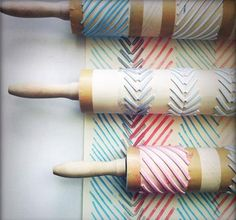 Make stamps out of rolling pins. #diy #craft