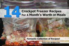14 Crockpot Freezer Recipes For A Month's Worth Of Meals
