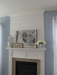 When we first bought our house, the fireplace had a decorative picture frame molding square above it. It was cute but not necessarily ...