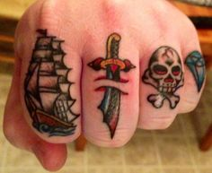 seven seas tattoos- i love the ship but i don't think my fingers are big enough!