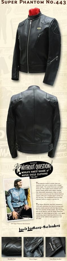 Lewis Leather Jacket -  Super phantom