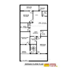 20 Ft by 30 Ft House Plans Beautiful House Plan for 30 Feet by 60 – House Plan In 20 60 Plot, with 40 More files Best House Plans, Small House Plans, House Floor Plans, Village House Design, Village Houses, Beautiful House Plans, Beautiful Homes, Structural Drawing, Construction Cost