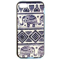 Mesh - iPhone 5(s) Hoesje - Back Case Siliconen Tribal Olifanten   Shop4Hoesjes