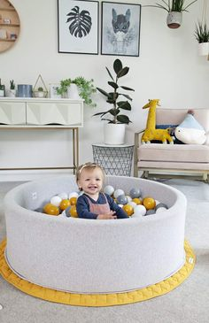 What could be better than your little ones very own ball pit? In a variety of colours, our ball pits really do make any kids room, nursery or playroom that extra bit special. Something they'll love and something you won't mind sharing your home with! Gray Playroom, Playroom Design, Playroom Ideas, Modern Playroom, Contemporary Nursery Decor, Nursery Modern, Interior Design Themes, Playroom Storage, Neutral Color Scheme
