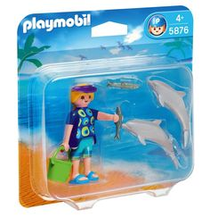 Playmobil - 5876 Duo Pack Dolphin Trainer with Dolphins