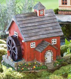 Miniature Fairy Garden Solar Mill House