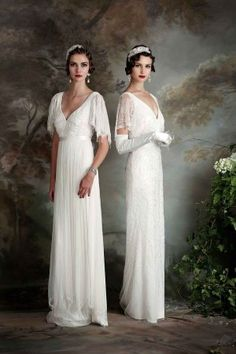 Gertrude and Rose - elegant wedding dresses with a classic vintage feel by Eliza Jane Howell Bridal @ejhbridal