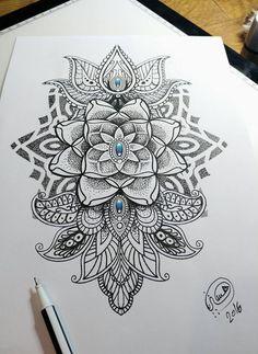 Mandala dotwork style, mehndi , made by hysteria tattoo Amsterdam.