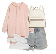 """Untitled #3798"" by theeuropeancloset ❤ liked on Polyvore featuring Levi's, Monki and Alexander McQueen"