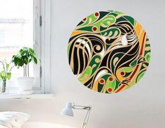 Wall Murals, Wall Art Decor, Pine Plywood, Maori Art, Removable Wall Decals, Wall Art Designs, Wall Stickers, Art Pieces, Original Art